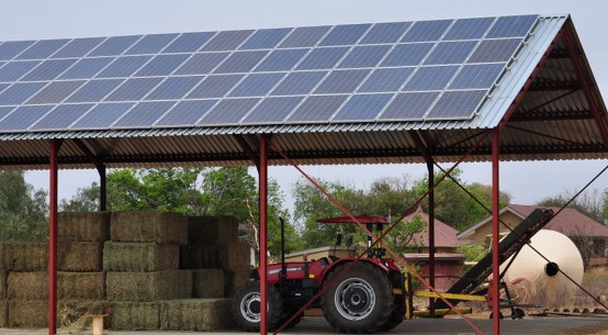 Solar PVS on farm building