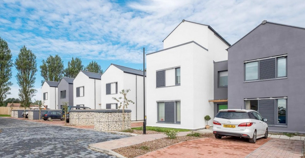 Cameron Close passivhaus homes, designed by PCKO Architects