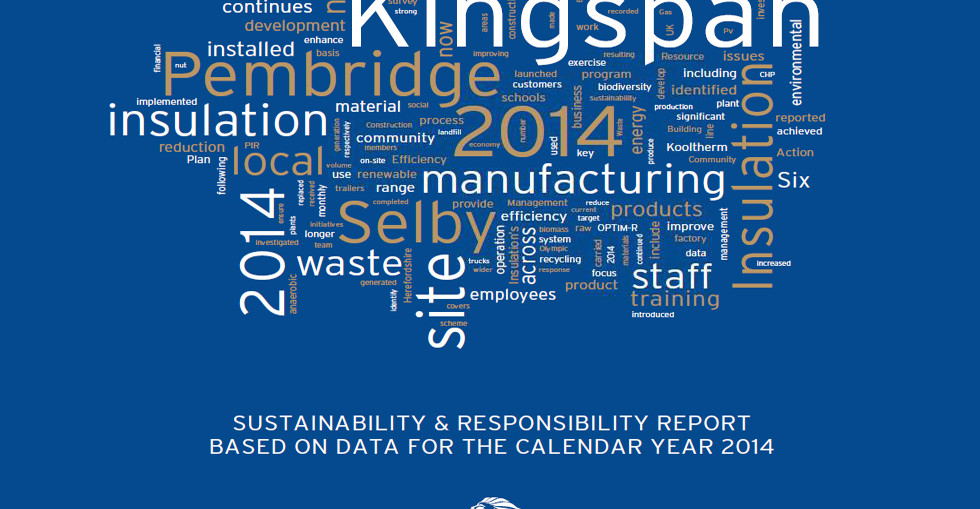Kingspan Insulation has published its latest Sustainability & Responsibility Report