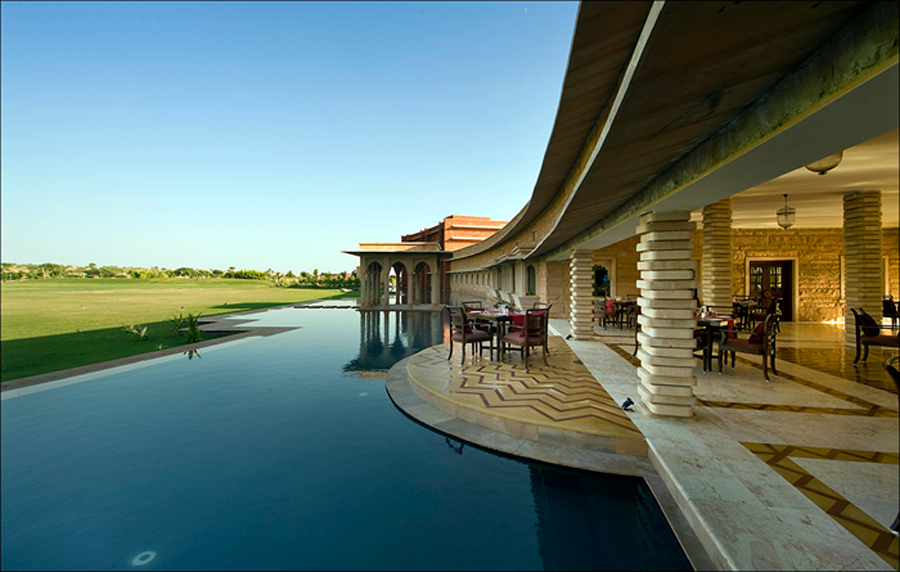 Indian architectural practice Abhikram blends sustainability and energy efficiency in buildings with beautiful design, like the Samsara Luxury Resort in Dechu.