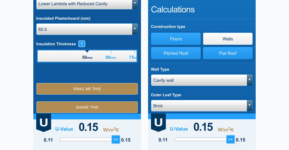 Kingspan insulation unveils U=Value calculator app