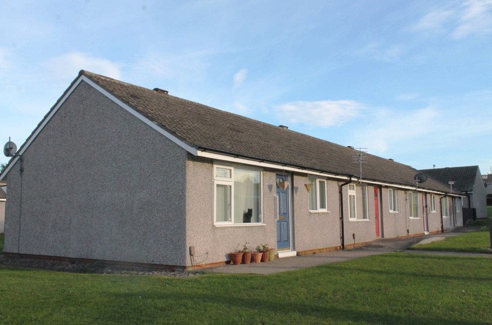 External view of typical bungalow before the external wall system installed