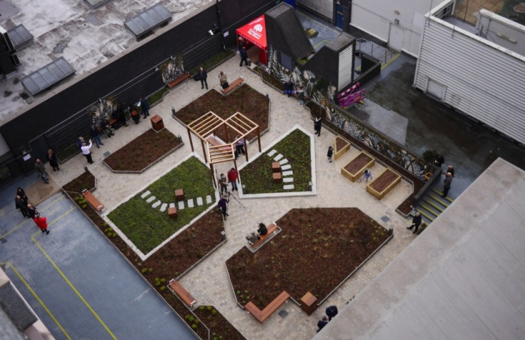 Residents benefit from new 'Garden in the sky'