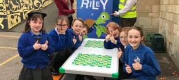 Recycled plastic challenge for schools