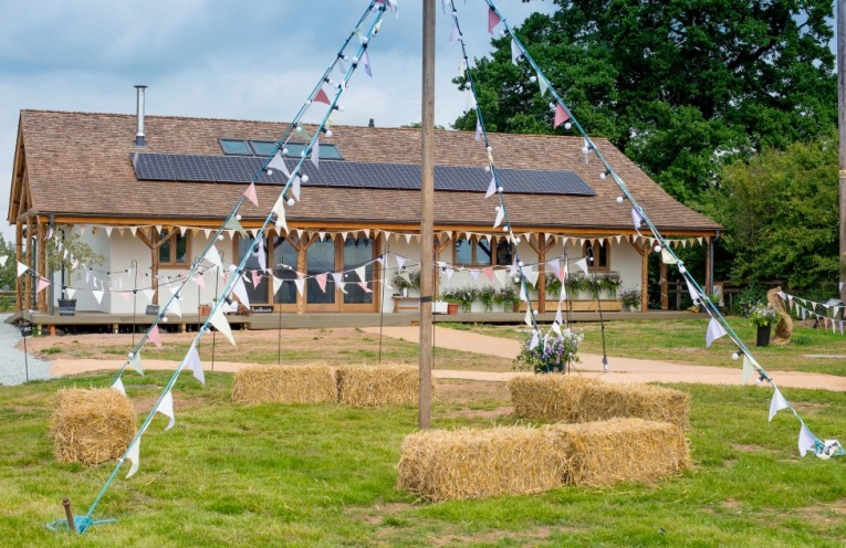 Fordhall builds one of Britain's biggest straw bale venues
